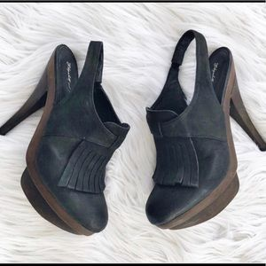 Elizabeth and James leather heels